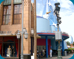 Art of Disney Animation en de Hollywood Boulevard bij de Tower of Terror
