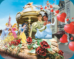 Princes Tiana in Disney's Once Upon a Dream Parade